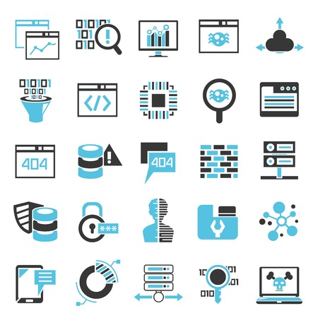 network security icons, programming icons