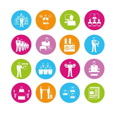 affair: business meeting icons Illustration