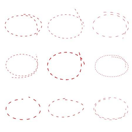 dashed: dashed circle Illustration