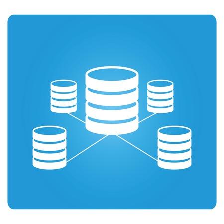 secure backup: database Illustration