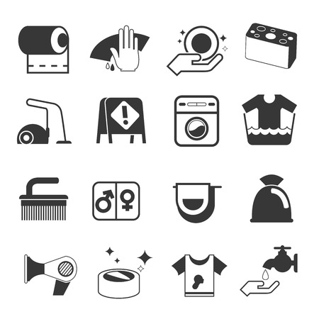 vacuum cleaner worker: cleaning icons