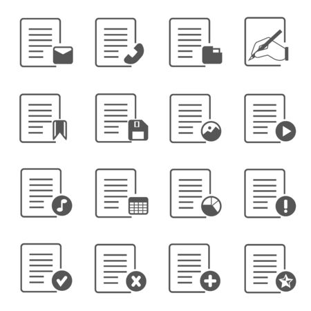 format: document icons