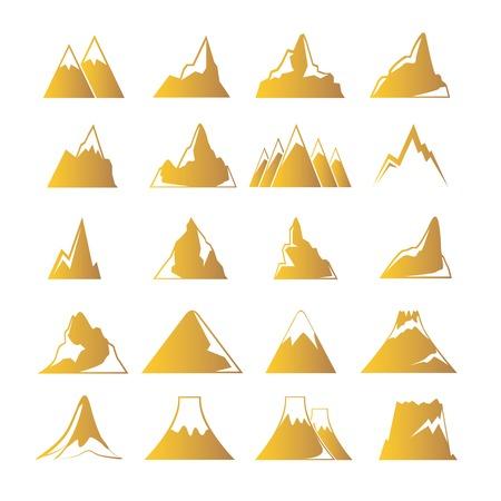 mountain landscape: mountain icons
