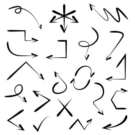 around the clock: sketch arrows