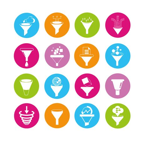 puncture: data filter icons Illustration