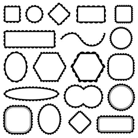 marcos redondos: marcos en blanco fijaron Vectores