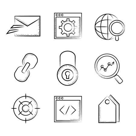 web icons: sketch web icons, SEO icons