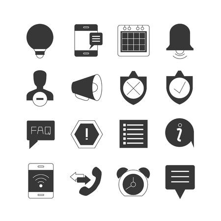 alerta: iconos de alerta web