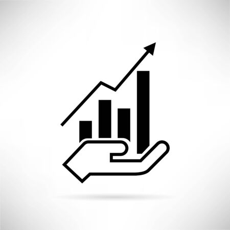 business funds: financial chart Illustration