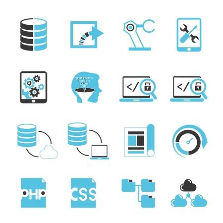 programer: web delvelopper icons, programming icons
