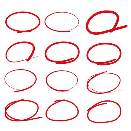 marker: marcadores de línea de color rojo, círculo