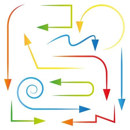 flechas curvas: flechas curvas