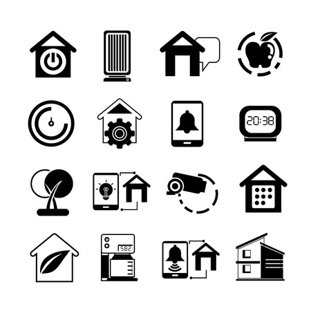 alarm system: smart home icons