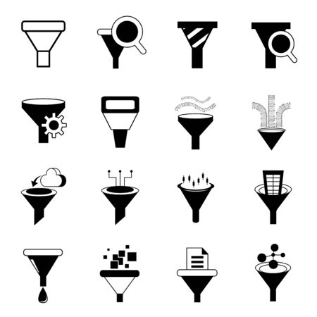data filter icons 向量圖像