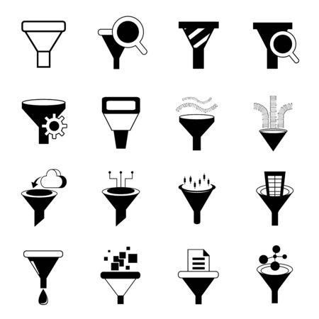 data filter icons Illustration