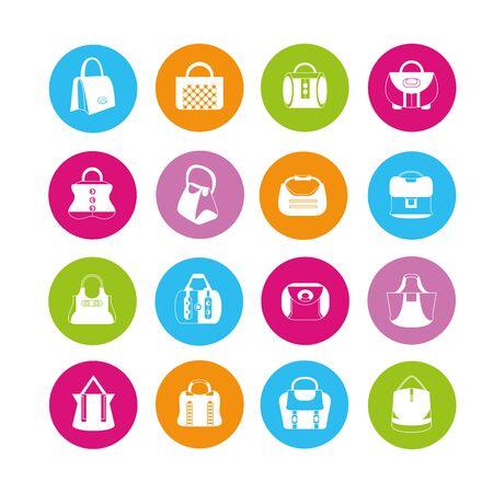 hand bag: bolso de mano, bolso de la manera iconos