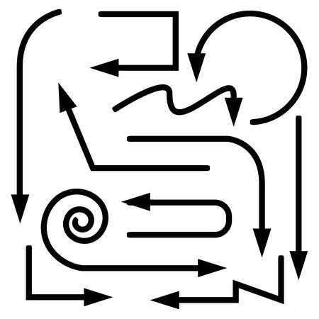 indexes: arrows Illustration