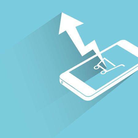 smart phone: mobile marketing analytics Illustration