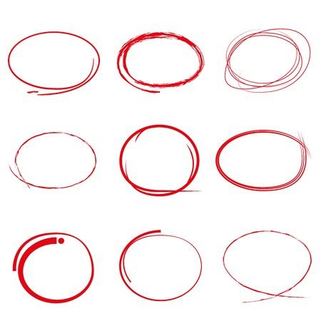 marqueurs de ligne rouge