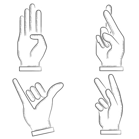 pinkie: sketch hand sign