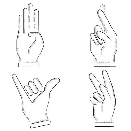gesticulation: sketch hand sign