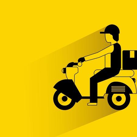 bicicleta vector: servicio de envios