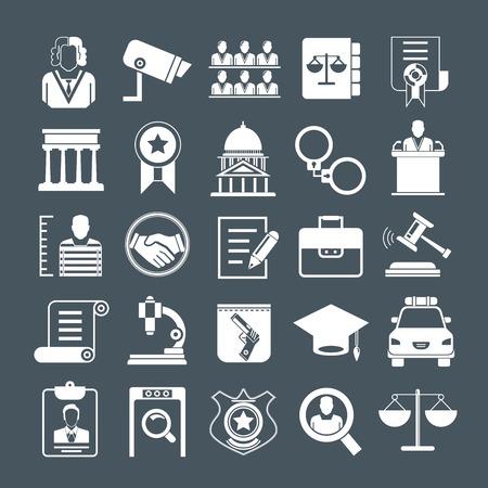 jurado: iconos de abogados Vectores