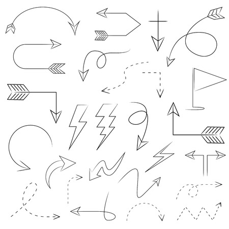 arrows set Illustration