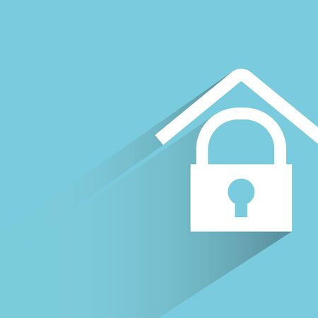 lock symbol: home security Illustration
