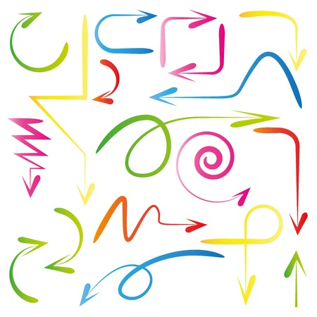 around the clock: arrows Illustration