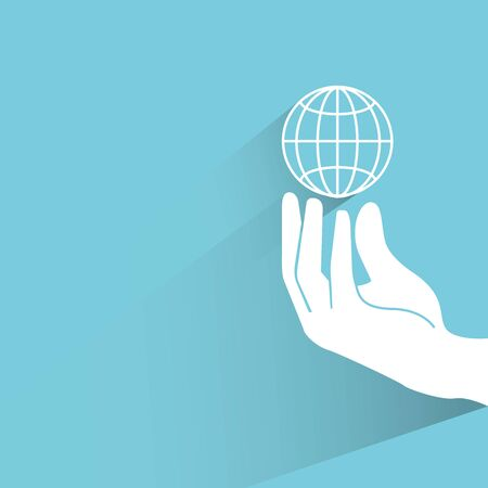 protection hands: globalization concept