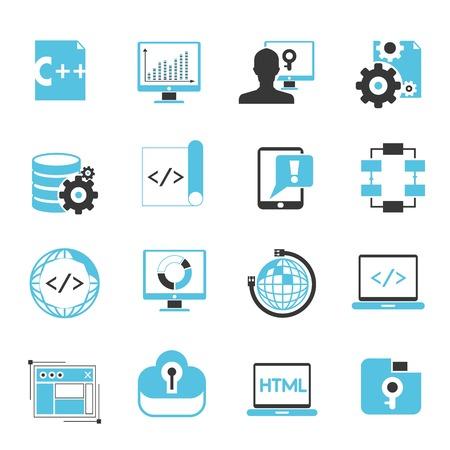 programming icons, software development
