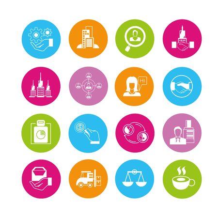 affair: business management icons Illustration