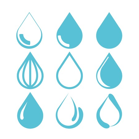 rain drop: water drop icons
