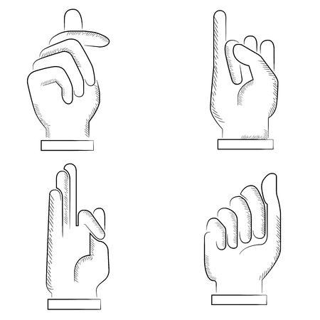 dedo meÑique: mano  Vectores