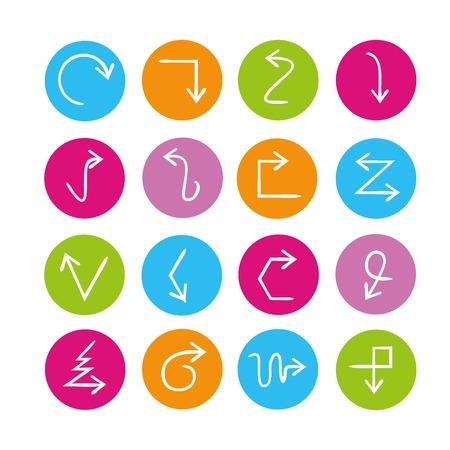 designator: arrow sign icons Illustration