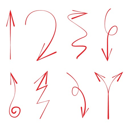 red hand: red hand drawn arrows