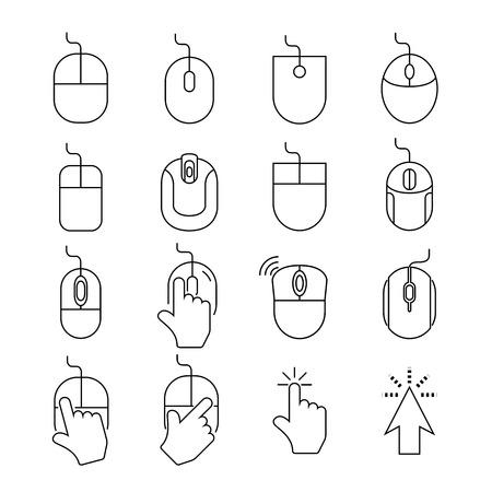 myszy: ikony mysz komputerową