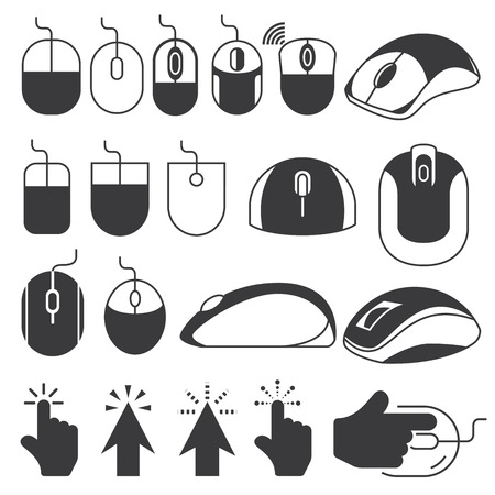 computerized: computer mouse icons Illustration