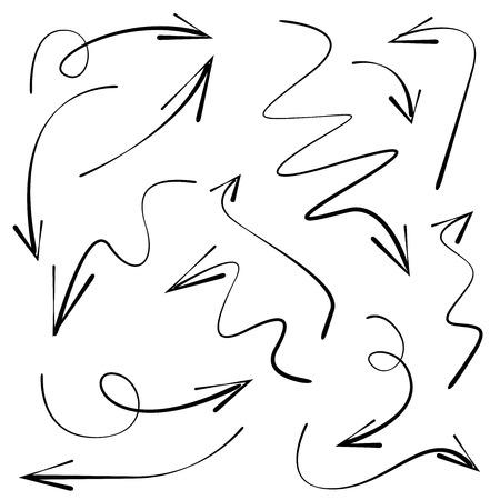 flechas curvas: flechas curvas en el fondo blanco