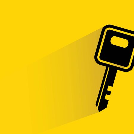 passkey: key on yellow  Illustration