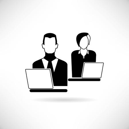 workteam: working on computer