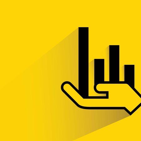 allocate: hand holding bar chart