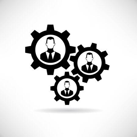 allocation: teamwork, work collaboration Illustration