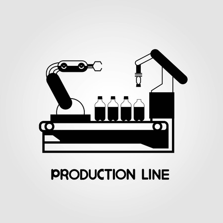 production line: robotic arm in production line