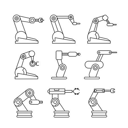 bras robot: ic�nes bras de robot, d'ic�nes de lignes