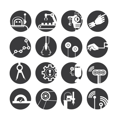 pincer: automated robot icons, industry icons