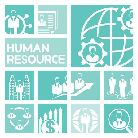 human resource affairs: human resource management icons Illustration