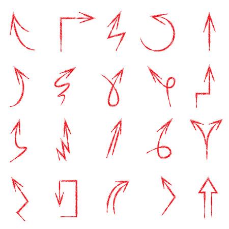 flecha: flechas rojas bosquejo Vectores