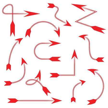 red arrows: red arrows template  Illustration